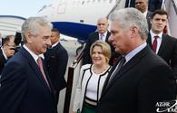 "Cuban President Miguel Diaz-Canel arrives in Azerbaijan <span class=""color_red"">[PHOTO]</span>"