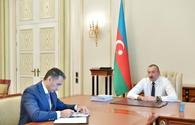 "President Ilham Aliyev receives chairman of Azercosmos <span class=""color_red"">[UPDATE]</span>"