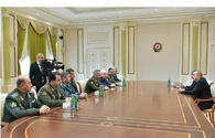 """President Ilham Aliyev receives participants of CIS Council of Defense Ministers meeting <span class=""""color_red"""">[UPDATE]</span>"""