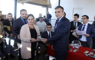 "Karabakh war veterans, martyrs' families given 40 apartments <span class=""color_red"">[PHOTO]</span>"