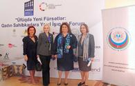 "Women's Forum of Entrepreneurs held in Baku <span class=""color_red"">[PHOTO]</span>"