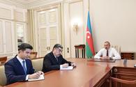 "President Ilham Aliyev receives newly appointed Hajigabul, Naftalan executives <span class=""color_red"">[UPDATE]</span>"