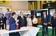 "Azerbaijani president with First Lady view Bakutel 2019 exhibition <span class=""color_red"">[UPDATE]</span>"