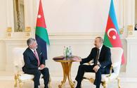 """President of Azerbaijan, King of Jordan hold one-on-one meeting <span class=""""color_red"""">[UPDATE]</span>"""