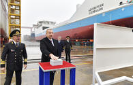 "Azerbaijani president attends ceremony to launch first tanker built at Baku Shipyard <span class=""color_red"">[PHOTO]</span>"