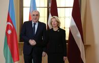 "Azerbaijani FM meets with speaker of Latvian parliament <span class=""color_red"">[PHOTO]</span>"