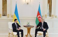 "President Ilham Aliyev, President Volodymyr Zelensky hold one-on-one meeting <span class=""color_red"">[UPDATE]</span>"