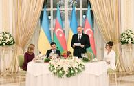 """President Ilham Aliyev hosted official reception in honor of Ukrainian President Volodymyr Zelensky <span class=""""color_red"""">[UPDATE]</span>"""