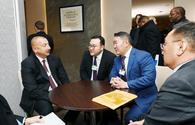 "Azerbaijani president meets with Mongolian president in Davos <span class=""color_red"">[PHOTO]</span>"