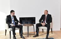 "President Ilham Aliyev meets Georgian Prime Minister in Davos <span class=""color_red"">[PHOTO]</span>"