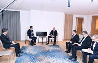 """President Ilham Aliyev meets Chief Executive Officer of SUEZ Group <span class=""""color_red"""">[PHOTO]</span>"""