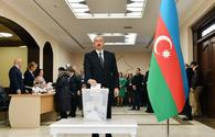 "Azerbaijani president, First Lady vote at parliamentary election <span class=""color_red"">[PHOTO/VIDEO]</span>"