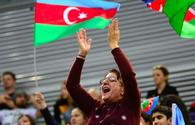Emotions of fans at FIG World Cup in Trampoline Gymnastics & Tumbling in Baku