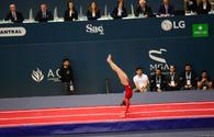 Russian gymnast ranks first in individual tumbling at FIG World Cup in Baku