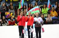 "Awarding ceremony for winners of individual program at FIG World Cup in Trampoline Gymnastics &amp; Tumbling held in Baku <span class=""color_red"">[PHOTO]</span>"