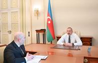 "President Ilham Aliyev receives chairman of Board of Baku Transport Agency <span class=""color_red"">[PHOTO]</span>"