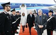 "Azerbaijani president arrives in Italy for state visit <span class=""color_red"">[PHOTO]</span>"