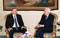 """Azerbaijani, Italian presidents hold one-on-one meeting in Rome <span class=""""color_red"""">[UPDATE]</span>"""