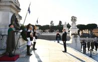 "Ilham Aliyev visits Tomb of the Unknown Soldier in Rome <span class=""color_red"">[PHOTO]</span>"
