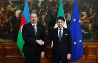 "Ilham Aliyev meets president of Council of Ministers of Italy <span class=""color_red"">[PHOTO]</span>"