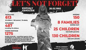 Memory of Khojaly Genocide victims to be honored