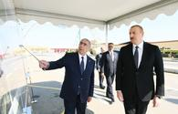 """President Aliyev inaugurates highway in Goranboy <span class=""""color_red"""">[PHOTO]</span>"""