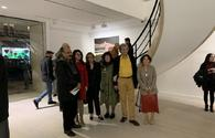 """Azerbaijani artists display their art works in London <span class=""""color_red"""">[PHOTO]</span>"""