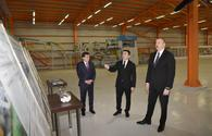 """President Ilham Aliyev inaugurates lime factory in Gazakh <span class=""""color_red"""">[UPDATE]</span>"""