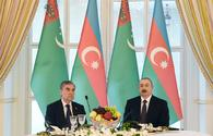 Ilham Aliyev hosts official reception in honor of Turkmen President