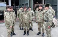 """Defence minister, senior official visit Azerbaijani soldiers in frontline <span class=""""color_red"""">[PHOTO]</span>"""