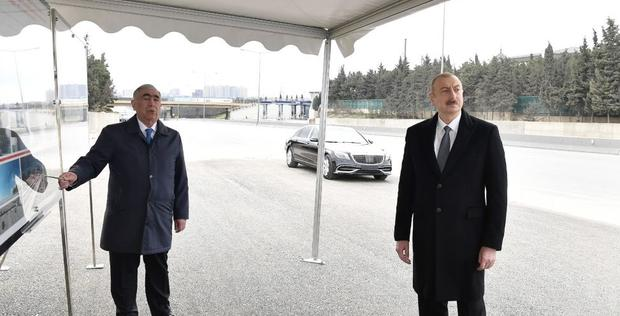 """Ilham Aliyev attends inauguration of pedestrian crossing <span class=""""color_red"""">[PHOTO]</span>"""