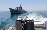 "Azerbaijani Navy conducts combat fire drills <span class=""color_red"">[PHOTO/VIDEO]</span>"