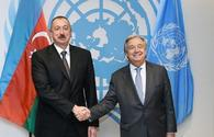 President Aliyev, UN Secretary-General mull fight against COVID-19