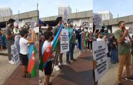 Azerbaijanis in Atlanta hold protest against Armenian military provocation