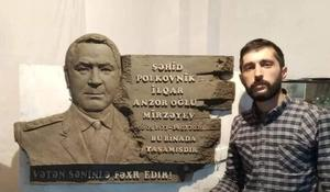"Young sculptor honors memory of national hero <span class=""color_red"">[PHOTO]</span>"