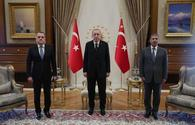 Turkish president receives Azerbaijani Foreign, Defense Ministers