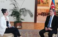 Azerbaijani FM gives interview to Turkish TV channel