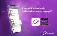 "Azercell mobile apps available now in ""Kabinetim""!"