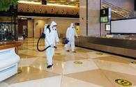 """Large-scale disinfection carried out at the Heydar Aliyev International Airport <span class=""""color_red"""">[PHOTO]</span>"""