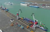 Some 9,000 cargo containers transported via Aktau-Baku route