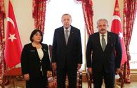 "Sahiba Gafarova meets with Turkish President <span class=""color_red"">[PHOTO]</span>"