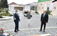 "President Aliyev hails landscaping work in Balakhani settlement <span class=""color_red"">[UPDATE]</span>"