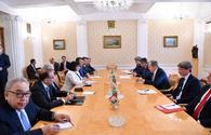 "Speaker of Azerbaijan's Parliament meets with Russian FM <span class=""color_red"">[PHOTO/VIDEO]</span>"