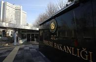Foreign Ministry: Turkey to render required support to Azerbaijan