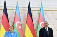 Ilham Aliyev, Angela Merkel discuss latest military clashes near occupied Karabakh