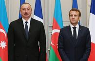 Aliyev, Macron discuss situation around occupied Nagorno-Karabakh