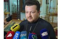 Head of Russian Orthodox Church in Ganja says Russian Church damaged in Armenian missile attack