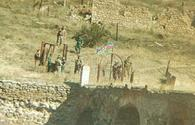 "Azerbaijani flag raised on historic Khudaferin Bridge <span class=""color_red"">[PHOTO]</span>"