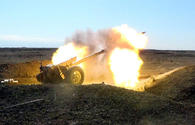 Armenian Armed Forces shelling Azerbaijani Tartar region
