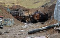 Azerbaijani Defense Ministry lists Armenian military equipment destroyed
